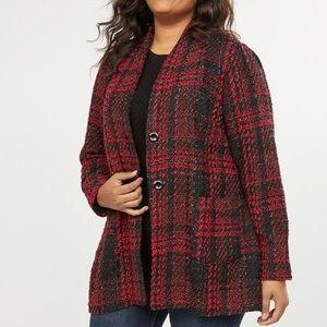 Lane Bryant Jackets & Coats - Plaid Shimmer Jacket